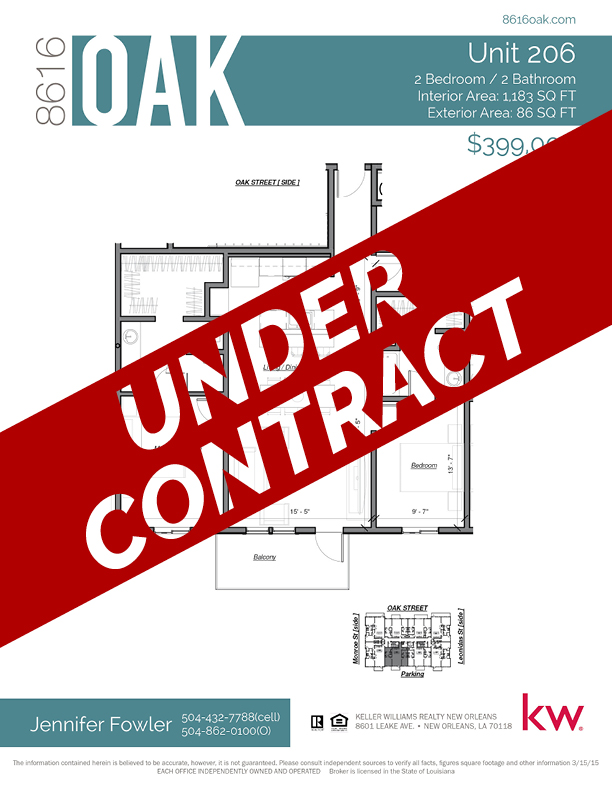 Unit 206 - UNDER CONTRACT