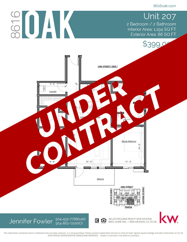 Unit 207 - UNDER CONTRACT