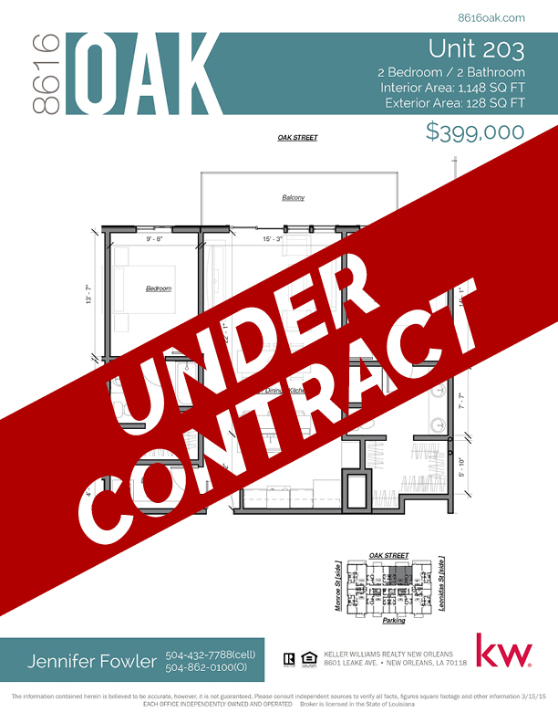 Unit 302 - UNDER CONTRACT